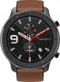 Amazfit - GTR Smartwatch 47mm - Aluminum Alloy With Brown Leather Strap