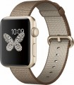 Apple - Apple Watch Series 2 42mm Gold Aluminum Case Toasted Coffee/Caramel Woven Nylon Band - Gold Aluminum