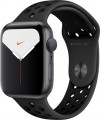 Apple - Apple Watch Nike Series 5 (GPS) 44mm Space Gray Aluminum Case with Anthracite/Black Nike Sport Band - Space Gray Aluminum