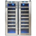 Vinotemp - 48-Bottle Dual-Zone Thermoelectric Mirrored Wine Cooler - Black